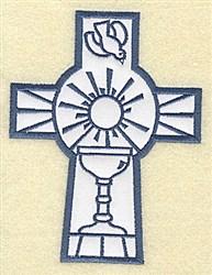 Cross Applique Chalice embroidery design