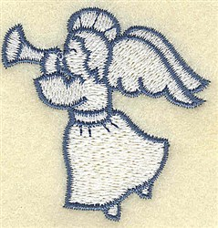 Angel With Trumpet embroidery design