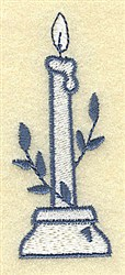 Candle With Laurel embroidery design