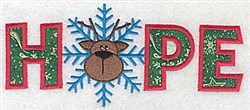 Applique Hope Reindeer embroidery design