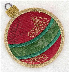 Applique Christmas Ornament embroidery design