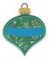 Christmas Ornament Applique embroidery design
