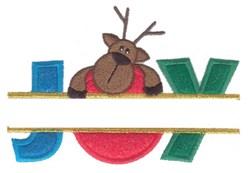 Joy Split Applique embroidery design