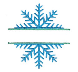 Split Snowflake embroidery design