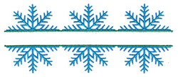 Split Snowflake Trio embroidery design