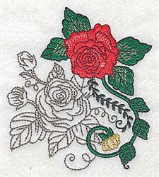 Rose Art embroidery design