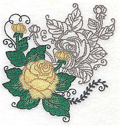 Double Roses embroidery design
