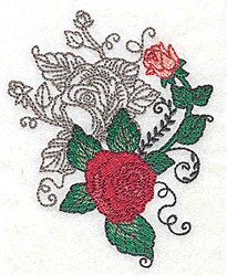Rosey Duet embroidery design