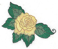 Leafy Rose embroidery design