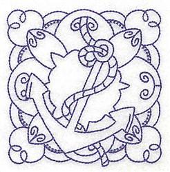 Anchor Quilt Block embroidery design