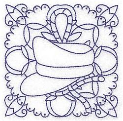 Captains Hat Block embroidery design