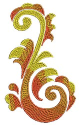 Leafy Scrollworks embroidery design