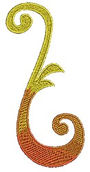 Leaf Scrollworks embroidery design
