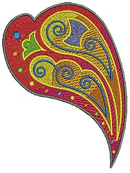 Scrollworks Heart embroidery design