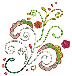 Scrollworks Floral Swirls embroidery design