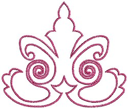 Scrollworks Redwork Outline embroidery design