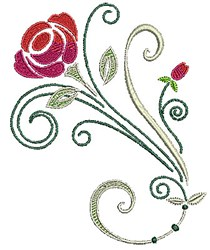 Scrollworks Rose embroidery design