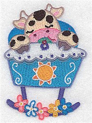 Cow In Cradle embroidery design