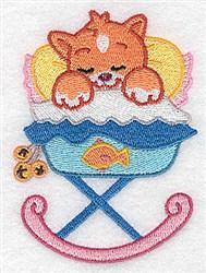 Kitten in Cradle embroidery design