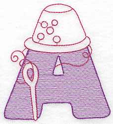 Sewing Letter A embroidery design