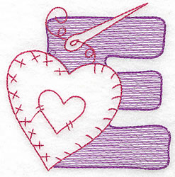 Sewing Letter E embroidery design