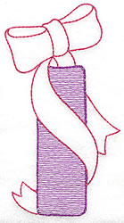 Sewing Letter I embroidery design