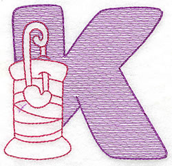 Sewing Letter K embroidery design