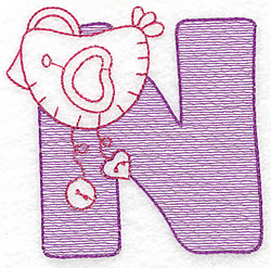 Sewing Letter N embroidery design