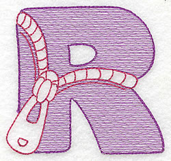 Sewing Letter R embroidery design