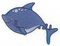 Shark Friend embroidery design