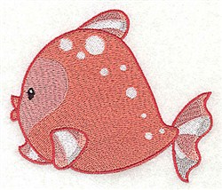 Fish Friend embroidery design