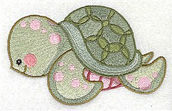 Turtle Friend embroidery design