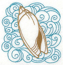 Olive Shell With Swirls embroidery design