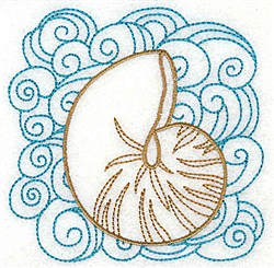 Snail Shell embroidery design
