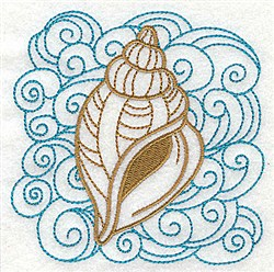 Drill Shell WIth Swirls embroidery design