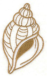 Drill Shell embroidery design