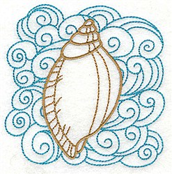 Seashell & Swirls embroidery design