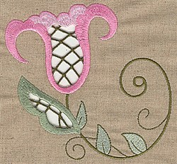 Cutwork Tulip embroidery design