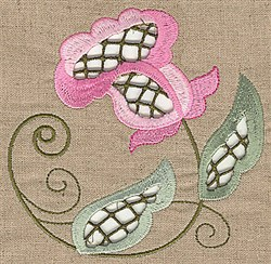 Cutwork Bloom embroidery design