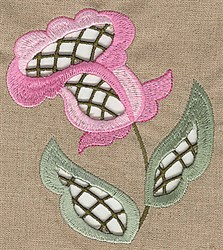 Cutwork Stem embroidery design