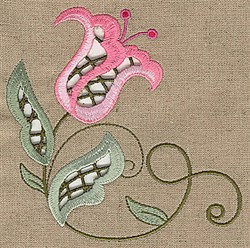 Cutwork Vine embroidery design