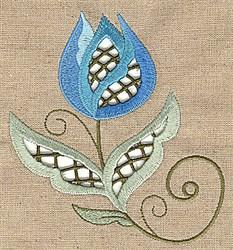 Cutwork Lotus embroidery design