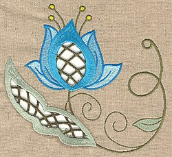 Elegant Cutwork Petals embroidery design