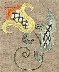 Cutwork Vine & Flower embroidery design