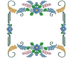 Flower Frame embroidery design