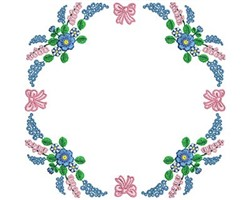 Florals embroidery design
