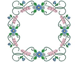 Flowers Decoration embroidery design
