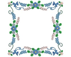 Floral Rectangle embroidery design