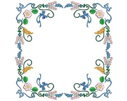 Flower Rectangle embroidery design