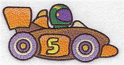 Racing Car embroidery design